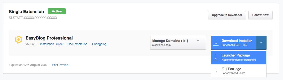 StackIdeas Dashboard Downloads