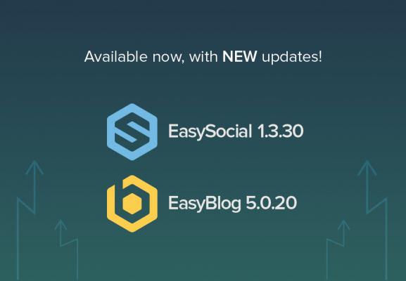 EasyBlog and EasySocial updates