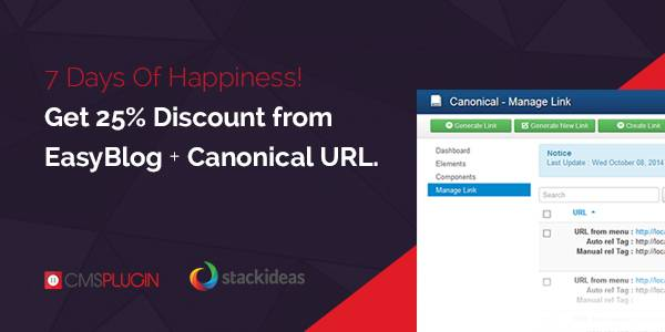 Canonical URL and EasyBlog