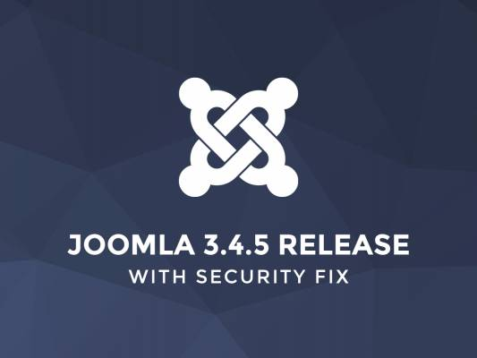 Important and critical Joomla 3.4.5 update
