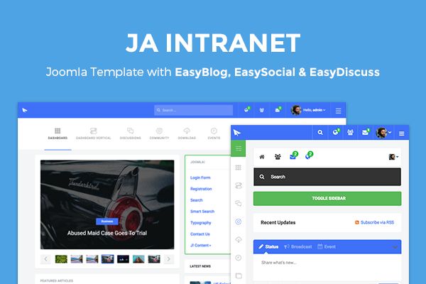 JA Intranet featuring EasySocial, EasyDiscuss and EasyBlog