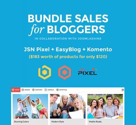 Get the best Joomla blog bundle with JSN Pixel today