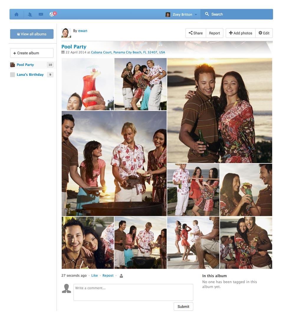 Социальная сеть EasySocial